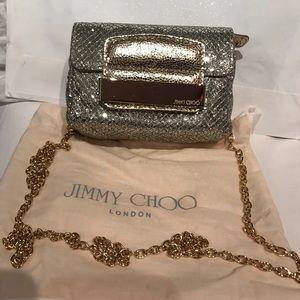 Jimmy Choo Metallic Glitter Mini Crossbody Bag